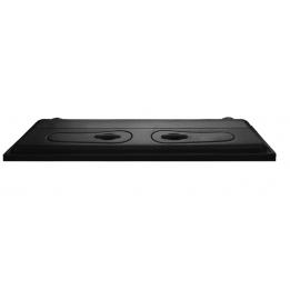 Pokrywa Selecto 80x40cm, prosta, czarna, T8 2x18W