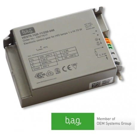 Statecznik elektroniczny BAG HES70.QS-11/220-240