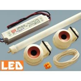 Zestaw LED świetlówka LED T5 PET 13W (60cm) + zasilacz IP67+ oprawki hermetyczne