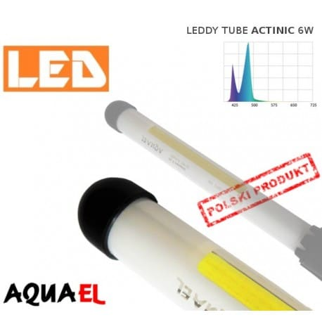 Moduł wymienny LEDDY TUBE ACTINIC 6W 20000K AQUAEL do akwariów morskich - www.aqua-light.pl