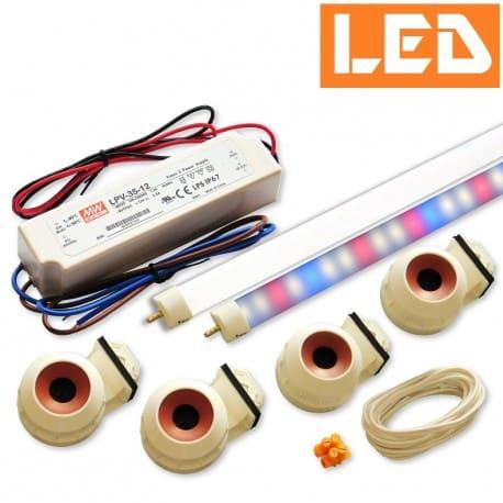 Zestaw LED świetlówka LED T5 PET1 9W (90cm) + zasilacz IP67+ oprawki hermetyczne