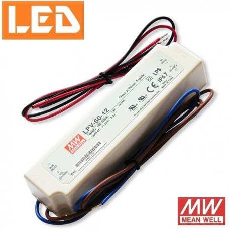 Zasilacz LED LPV 12V 60W IP67 Mean Well