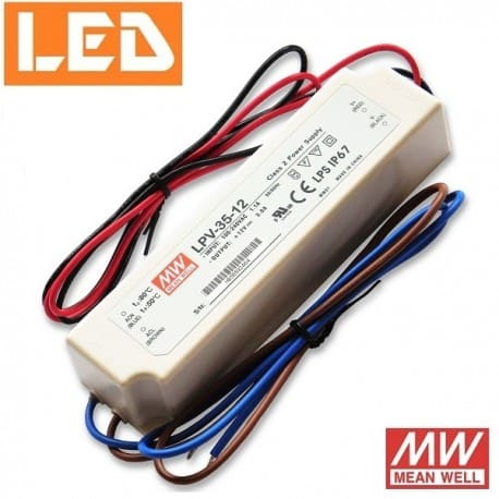 Zasilacz LED LPV 12V 36W IP67 Mean Well