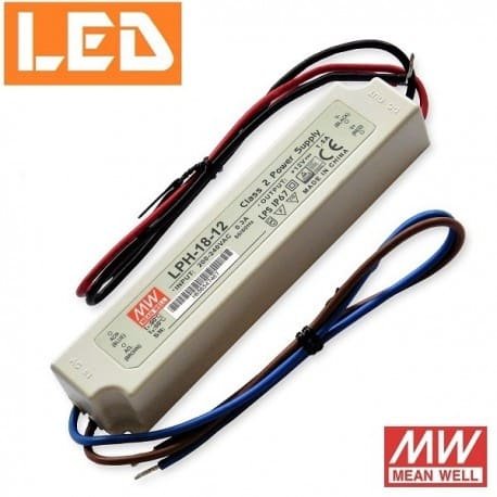 Zasilacz LED LPH 12V 18W IP67 Mean Well