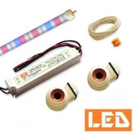 Zestaw LED T5 świetlówka roślinna 13W, do pokrywy akwarium 80cm
