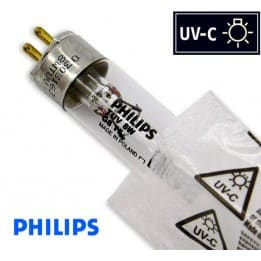 Promiennik UV-C Świetlówka UVC T5 PHILIPS TUV 8W G8 trzonek G5, średnica 16mm - od AQUA-LIGHT
