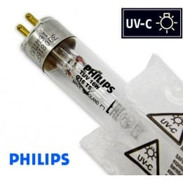 Promiennik UV-C Świetlówka UVC T5 PHILIPS TUV 16W G16 trzonek G5, średnica 16mm - od AQUA-LIGHT