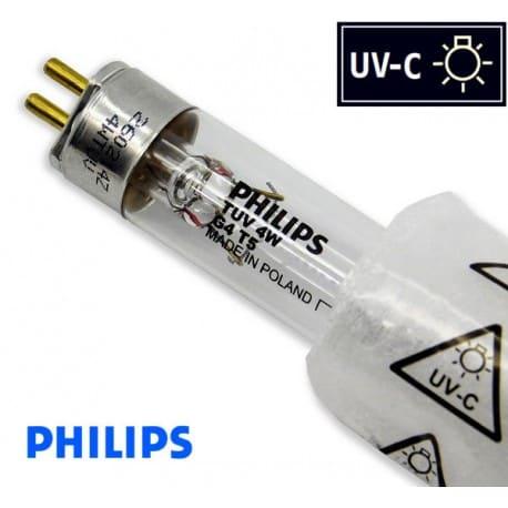 Promiennik UV-C Świetlówka UVC T5 PHILIPS TUV 4W G4 trzonek G5, średnica 16mm - od AQUA-LIGHT