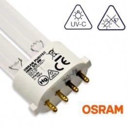 Promiennik UV-C Świetlówka UVC OSRAM Puritec HNS 9W trzonek 2G7 | sklep AQUA-LIGHT.pl