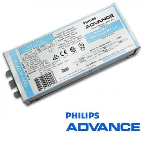 Statecznik elektroniczny PHILIPS ADVANCE PureVOLT IUV-2S60-M4-LD, do lamp UV-C TUV PL-L HO 35W-60W-95W i 4P-SE T5HO 75W i 145W