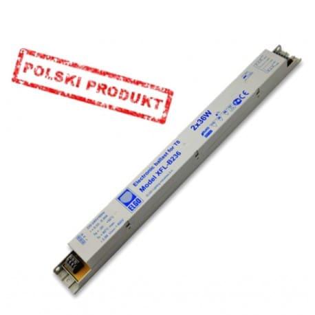 Statecznik elektroniczny T8 ELGO XFL-B236 2x36W, producent firma EMC/GOVENA - od AQUA-LIGHT