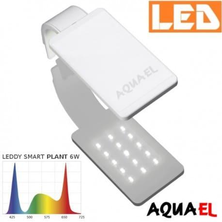 Lampka akwariowa LED LEDDY SMART 2 PLANT 6W 8000K AQUAEL, biała | sklep AQUA-LIGHT.pl