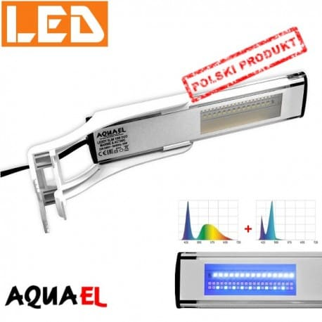 LEDDY SLIM DUO Marine + Actinic - moc 10W - 10000K / 20000K, firmy AQUAEL | sklep AQUA-LIGHT.pl