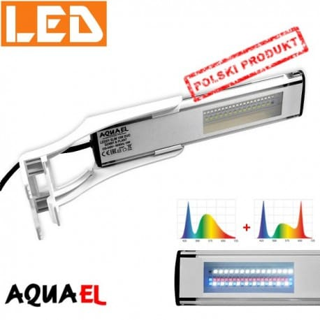 LEDDY SLIM DUO Sunny + Plant - moc 10W - 6500K / 8000K, firmy AQUAEL | sklep AQUA-LIGHT.pl