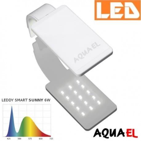 Lampka akwariowa LED LEDDY SMART 2 SUNNY 6W 6500K AQUAEL, biała - na akwarium | sklep AQUA-LIGHT.pl