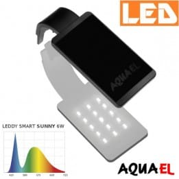 Lampka akwariowa LED LEDDY SMART 2 SUNNY 6W 6500K AQUAEL, czarna - na akwarium | sklep AQUA-LIGHT.pl