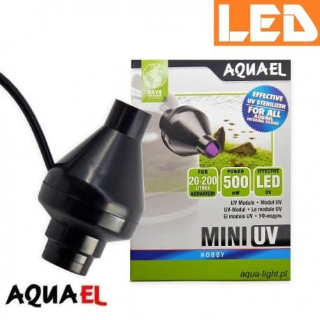 MINI UV LED Aquael - sterylizator UV do akwarium| sklep AQUA-LIGHT.pl