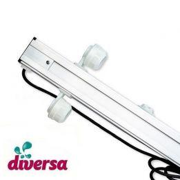 Belka oświetleniowa do akwarium, 2x58W 200cm, Diversa, oprawki hermetyczne | sklep AQUA-LIGHT.pl