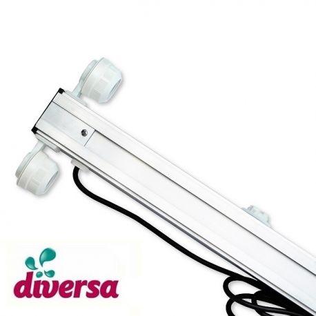 Belka oświetleniowa do akwarium, 2x18W 80cm, Diversa, oprawki hermetyczne | sklep AQUA-LIGHT.pl