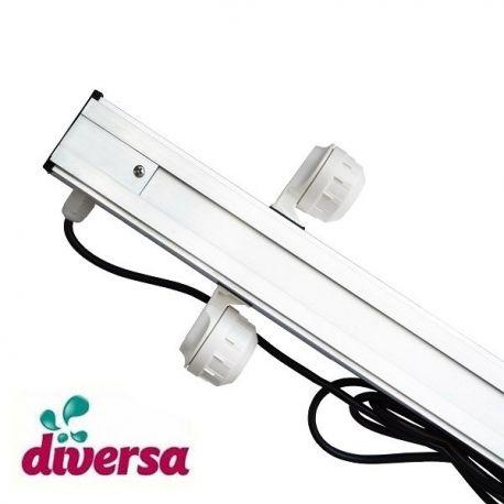 Belka oświetleniowa do akwarium, T5 2x54W 150cm, Diversa, oprawki hermetyczne | sklep AQUA-LIGHT.pl