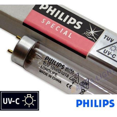 Promiennik UV-C Świetlówka UVC PHILIPS TUV T8 10W G10 trzonek G13 - od AQUA-LIGHT