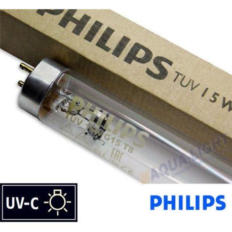 Promiennik UV-C Świetlówka UVC PHILIPS TUV T8 15W G15 trzonek G13 - od AQUA-LIGHT
