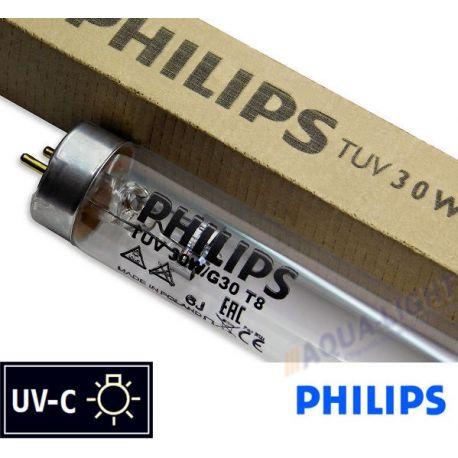 Promiennik UV-C Świetlówka UVC PHILIPS TUV T8 30W G30 trzonek G13 | sklep AQUA-LIGHT