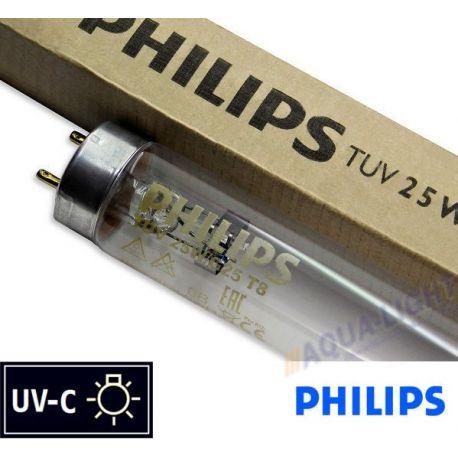 Promiennik UV-C Świetlówka UVC PHILIPS TUV T8 25W G25 trzonek G13 - od AQUA-LIGHT