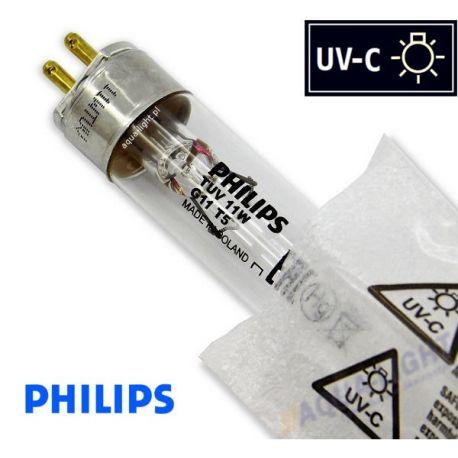 Promiennik UV-C Świetlówka UVC T5 PHILIPS TUV 11W G11 trzonek G5, średnica 16mm - od AQUA-LIGHT