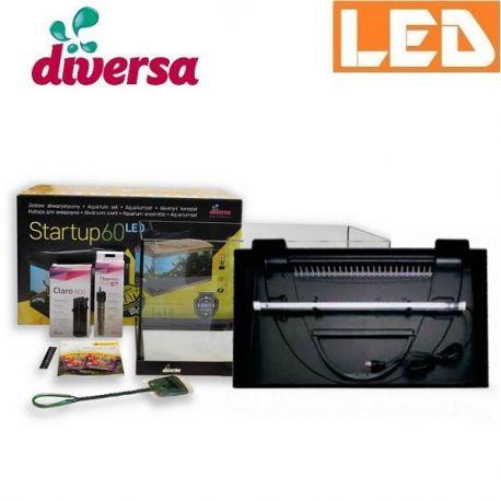 Zestaw StartUp 60 LED akwarium prostokątne proste 54 l Diversa