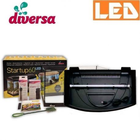 Zestaw StartUp 60 LED akwarium profilowane 54 l Diversa | sklep AQUA-LIGHT.pl
