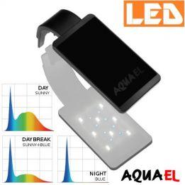 Lampka akwariowa LED LEDDY SMART SUNNY D&N 4,8W 6500K AQUAEL, czarna - na akwarium | sklep AQUA-LIGHT.pl