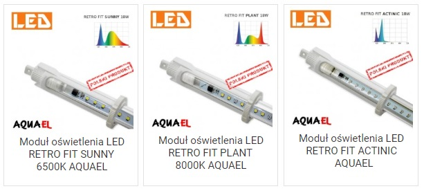 Moduły wymienne LED Retrofit Aquael | sklep AQUA-LIGHT.pl