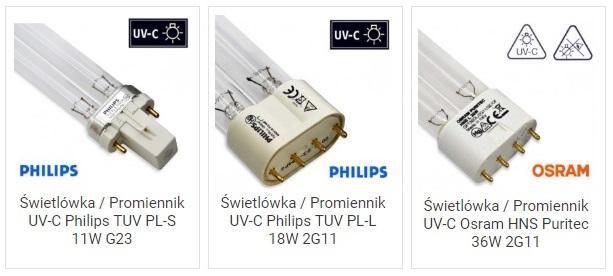Promienniki UVC TUV PL-S PL-L HNS do oczek wodnych | sklep AQUA-LIGHT.pl