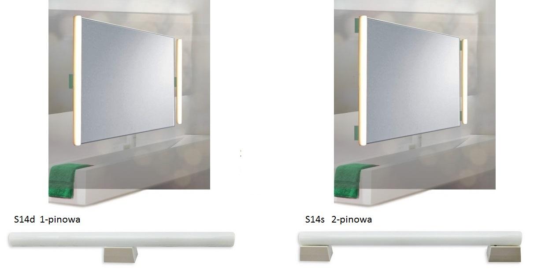 Żarówki liniowe LED - różnice między S14s i S14d