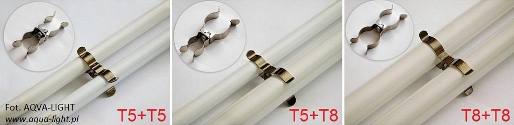 Łączenie świetlówek T5 i T8 za pomocą uchwytów metalowych - blog aqua-light.pl
