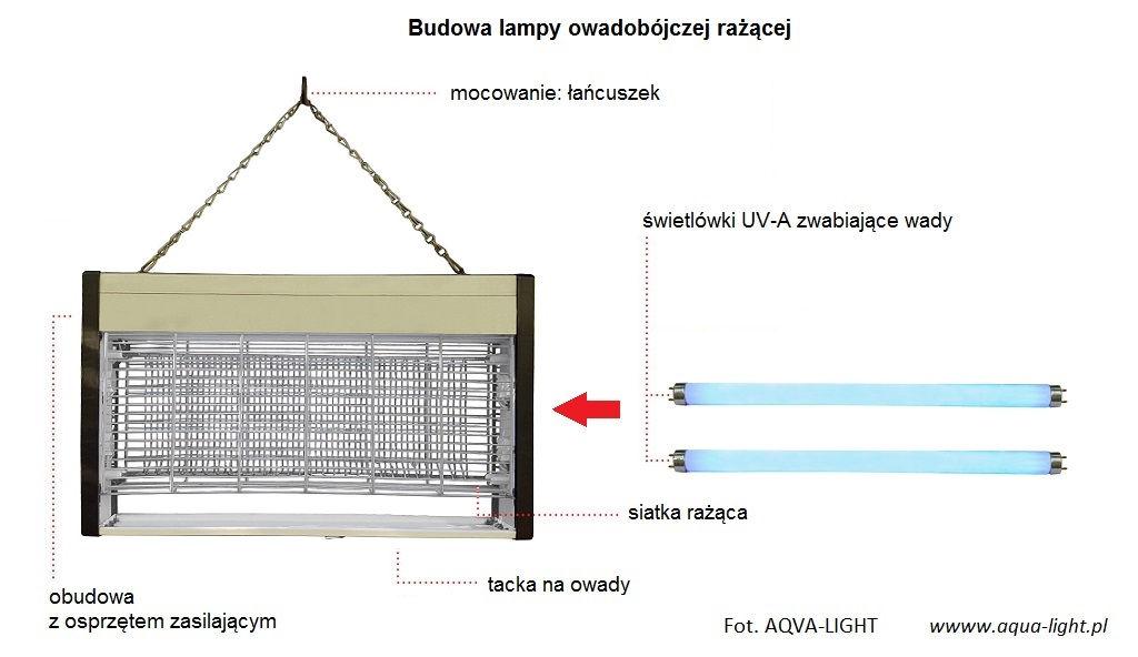 Budowa lampy owadobójczej rażącej - świetlówki UVA | Blog AQUA-LIGHT