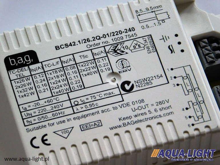 Statecznik elektroniczny BSC 42.1/26.2Q-1 firmy BAG Electronics - od AQUA-LIGHT