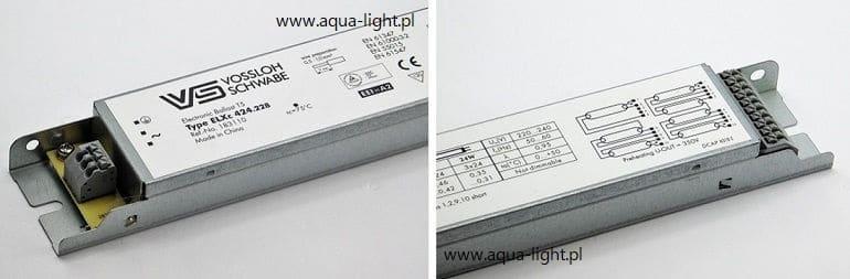 Statecznik elektroniczny VS ELXc 424.228, schemat połączeń - od AQUA-LIGHT