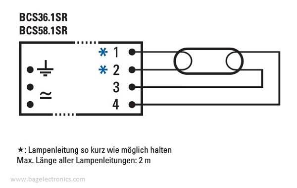 Schemat połączeń BAG BCS36.1SR-01 | sklep AQUA-LIGHT.pl