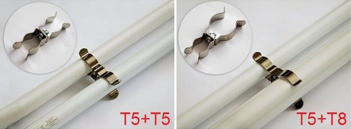 Mocowanie świetlówki T5 i T8 za pomocą uchwytów metalowych T5 / T8 |sklep AQUA-LIGHT.pl