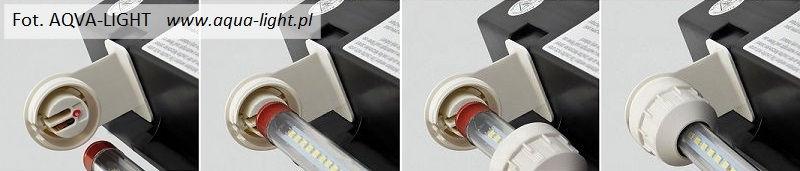 Montaż świetlówek LED w belce MultiLux LED Juwel | sklep AQUA-LIGHT.pl