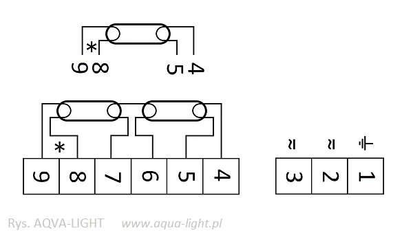 Schemat połączeń - statecznik Tridonic PC 1/2x26-42 TC PRO | sklep AQUA-LIGHT.pl