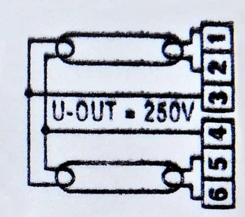 Schemat połączeń świetlówek - statecznik PICOTRONIC | sklep AQUA-LIGHT.pl