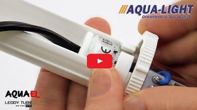 Video ze sposobem montażu adapterów i końcówek T5 / T8 do modułu LED LEDDY TUBE RETRO FIT firmy AQUAEL. Propozycja ze sklepu www.aqua-light.pl