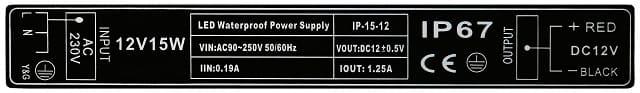 Zasilacz LED 15W 12V IP-15-12 Prescot | sklep AQUA-LIGHT.pl