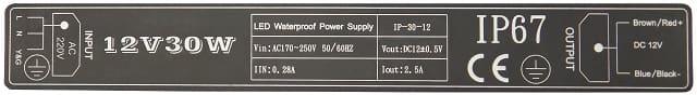 Zasilacz LED 30W 12V IP-30-12 Prescot | sklep AQUA-LIGHT.pl